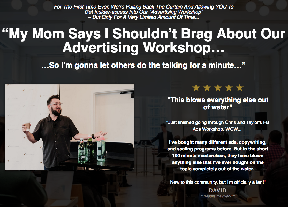 Traffic and Funnels – Advertising Workshop