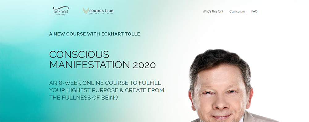Eckhart Tolle Conscious Manifestation 2020 Download