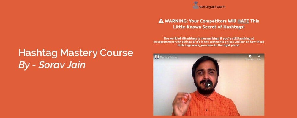 Download Hashtag Mastery Course By Sorav Jain