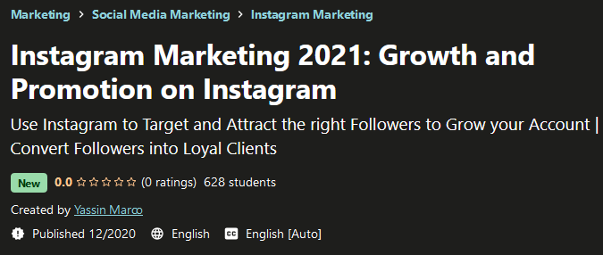 Instagram Marketing 2021 - Growth & Promotion On Instagram