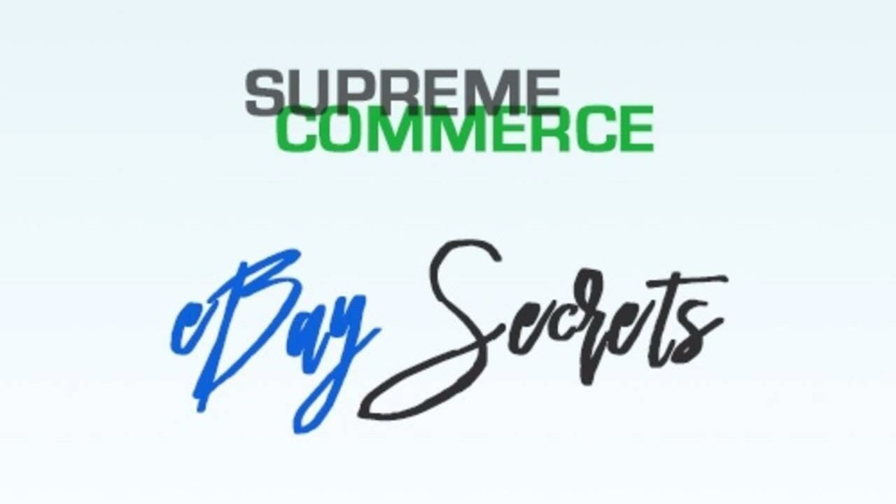 Supreme Training – Secrets To Successful Ebay Dropshipping