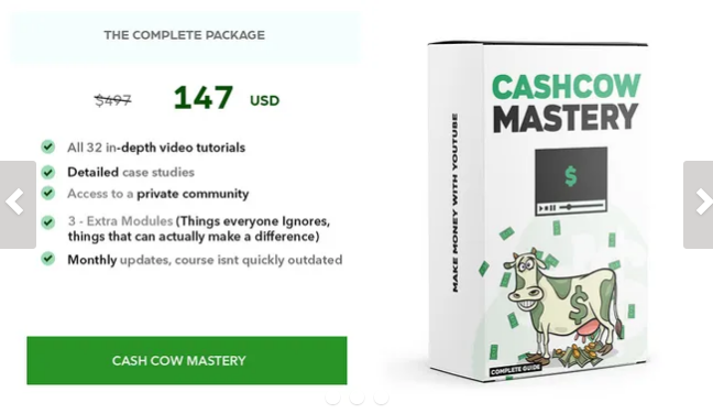 YouTube – CashCow MASTERY (Full Course)